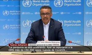"""La OMS advierte de que """"la pandemia se está acelerando"""""""