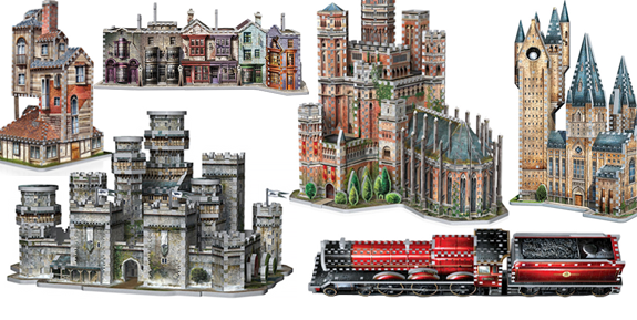 GAME OF THRONES & HARRY POTTER 3D PUZZLES