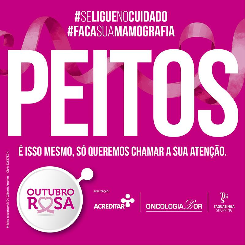 Taguatinga Shopping promove campanha de conscientização para Outubro Rosa