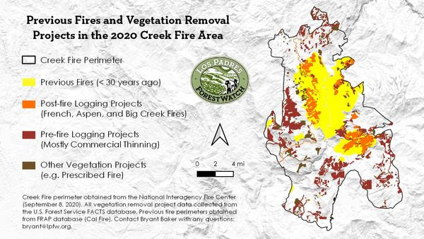 2020 Creek Fire_Veg Projects and Previous Fires_Update
