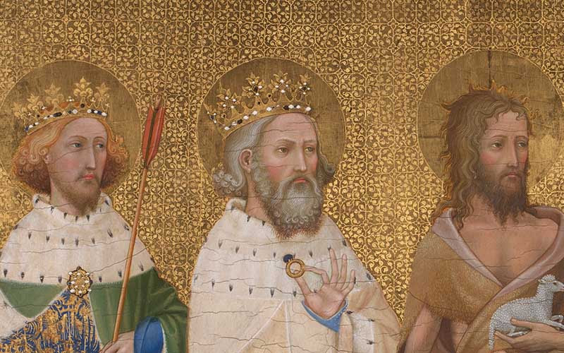 Unknown English or French (?) artist, 'The Wilton Diptych', about 1395–9 © The National Gallery, London