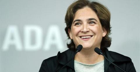 Ada Colau, durante el acto de Barcelona en Comú. EFE/Andreu Dalmau