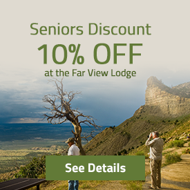 Seniors Discount - 10% at the Far View Lodge - See Details