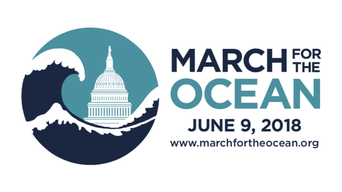 March for the Ocean logo with a circle showing a wave over the capital building in Washington, DC