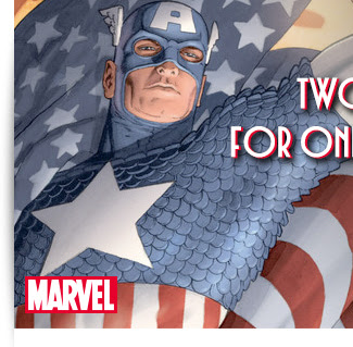 The Countdown to Civil War continues Two Star-Spangled Series for one Star-Spangled Price Captain America Sale: Up to 50% off! Enjoy two great runs starring the First Avenger for 99¢ an issue! Sale ends TODAY, 4/18.