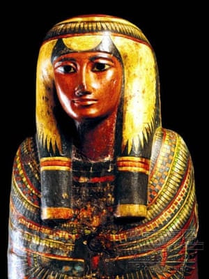 The Egyptian coffin of Sha-Amun-em-su.