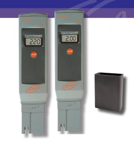 Testes de conductividad portatiles AD203 y AD204