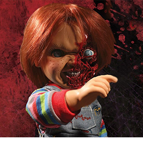 CHILD'S PLAY 3 DESIGNER SERIES TALKING PIZZA FACE CHUCKY