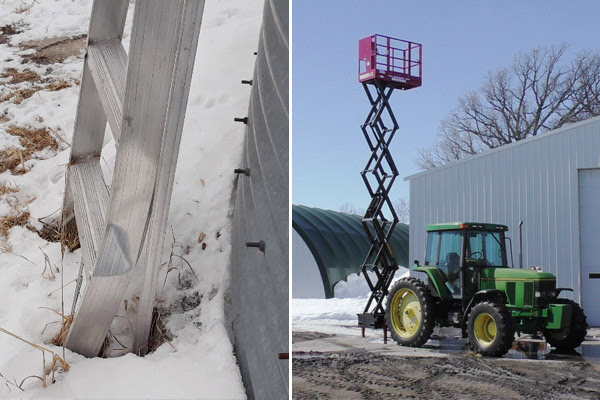 Ladder Fall and Skid-Lift