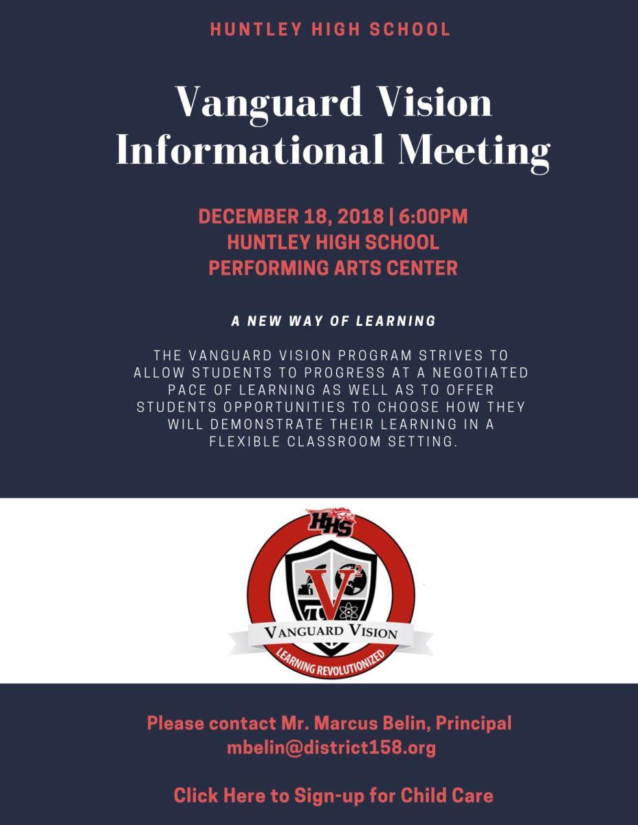 Vanguard Vision Informational Meeting December 18, 2018 at 6:00 p.m.