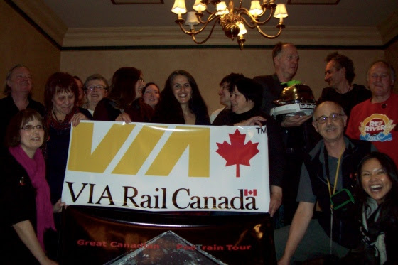 The Great Canadian PoeTrain Tour event in Winnipeg, Manitoba, Canada