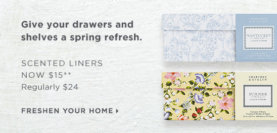 Give your drawers and shelves a spring refresh. Scented Liners now $15.** Regularly $24. Shop now
