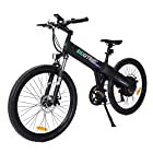 "ECOTRIC Aluminum Alloy Electric Bike Matt Black Electric Mountain Bicycle Powerful 500W Lithium 36V 10AH Battery Suspension Fork 26"" City Tire Ebike"
