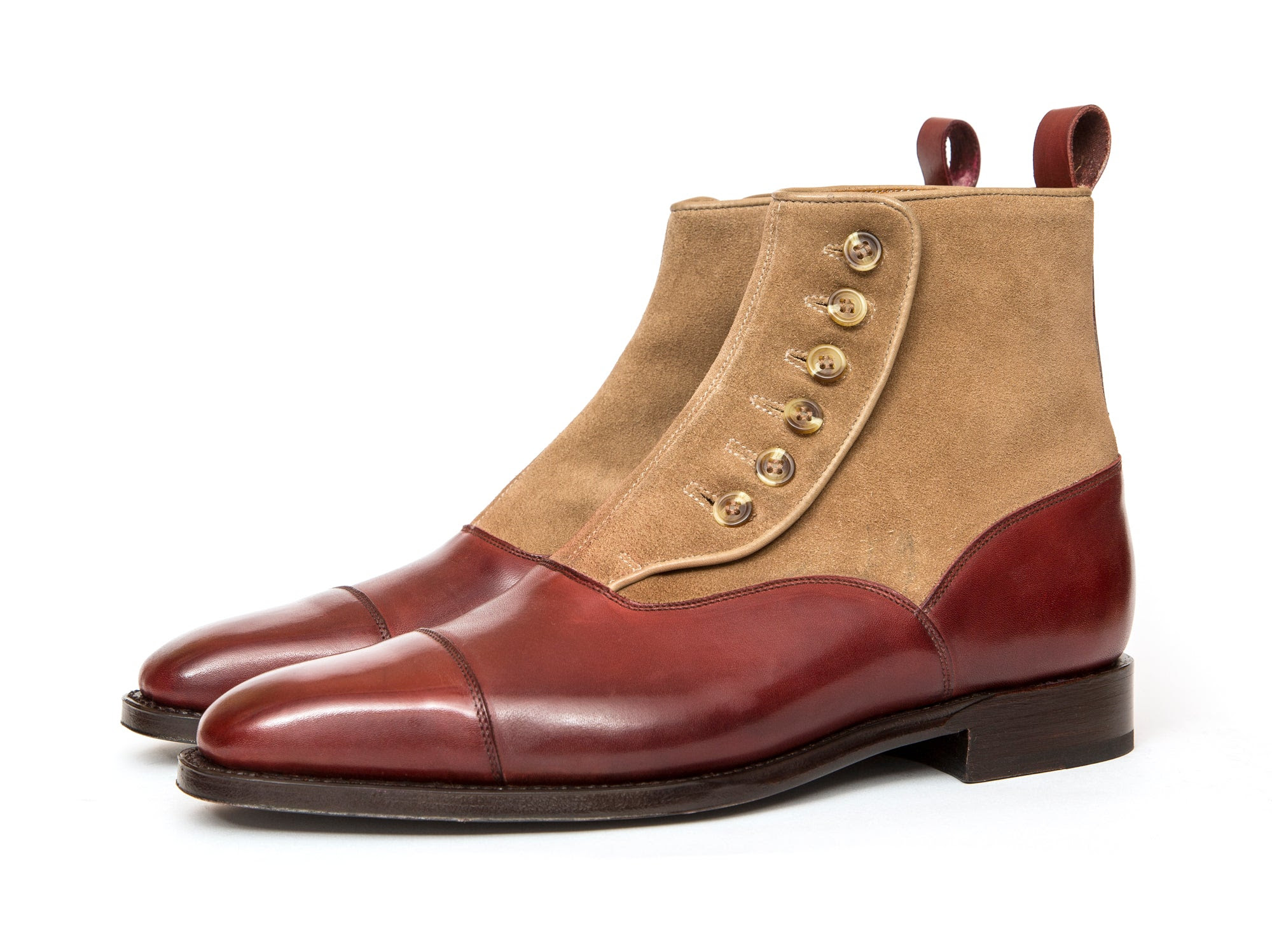 Image of Bellevue - Burgundy Calf / Oatmeal Suede GMTO