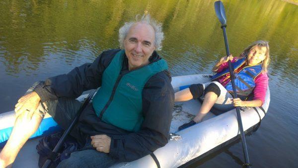 John and Deirdra Doan in Kayak