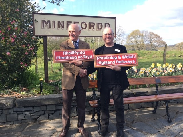 Train-naming honours Network Rail's partnership with Ffestiniog & Welsh Highland Railways