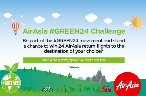 AirAsia #GREEN24 challenge