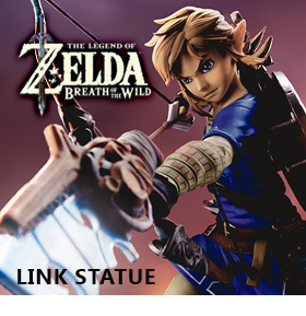 LEGEND OF ZELDA LINK STATUE