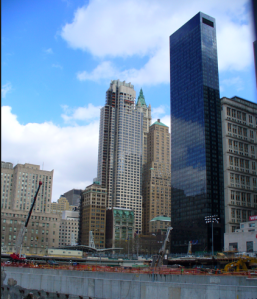 "The Milenium Hilton adjacent to ""ground zero"" at the World Trade Center complex"