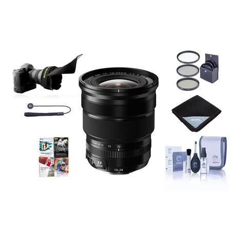 XF 10-24mm (15-36mm) F4.0 OIS Lens, Black - Bundle with 72mm Filter Kit, Lens Wrap, Cleani