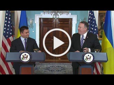Secretary Pompeo and Minister Klimkin deliver statements to the press following US Ukraine Strategic Partnership Committee meeting