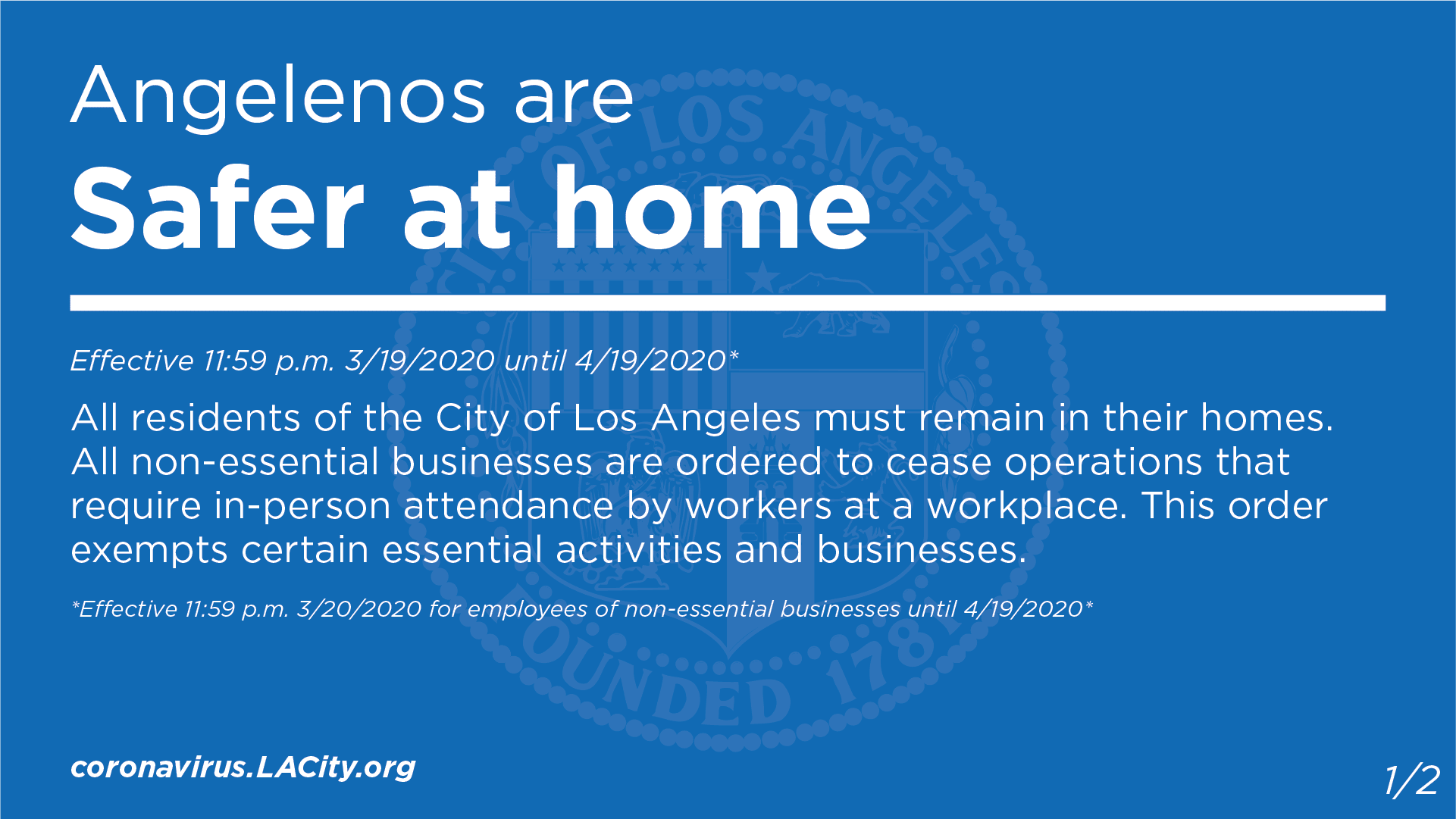 Angelenos are Safer at Home
