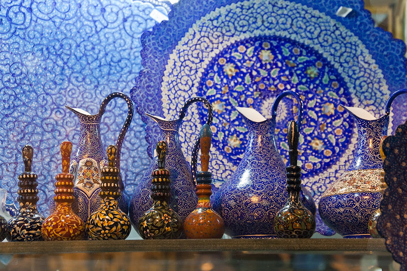 Иранская роспись по керамике