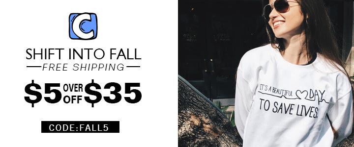 Passez à l'automne! $ 5 OFF Plus de $ 35 Code Promo: FALL5! Livraison gratuite!