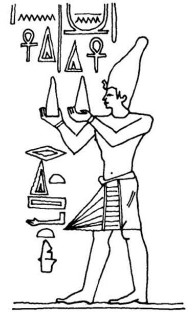 Man holding the Shem an na - Dios egipcio toth y su escuela de misterio