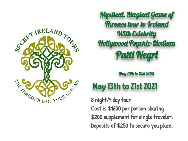 Secret Ireland Tours information found on https://www.secretirelandtoursllc.com/