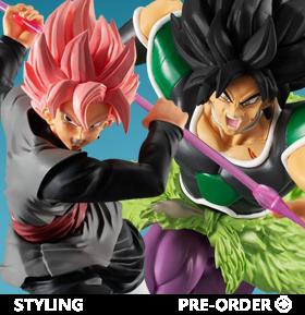 Dragon Ball Super Styling Super Saiyan Rose Goku Black & Broly (Rage Mode)