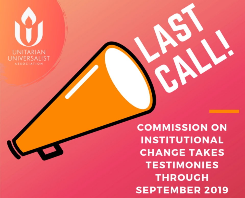 Last Call: Commission on Institutional Change takes testimonies through September 2019