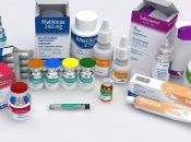 Sample of the products made by FarmaCuba, Havana, Cuba, April, 2020. .