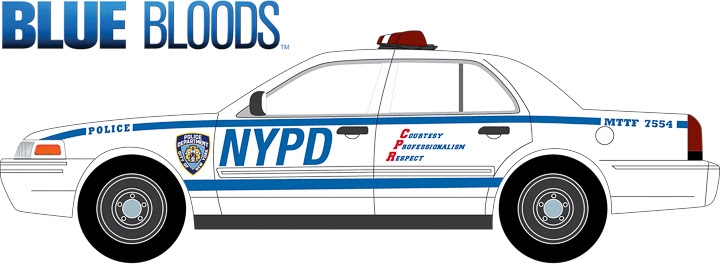 44760-D 1:64 Hollywood Series 16 ft. a 2001 Ford Crown Victoria Police Interceptor- NYPD – Blue Bloods