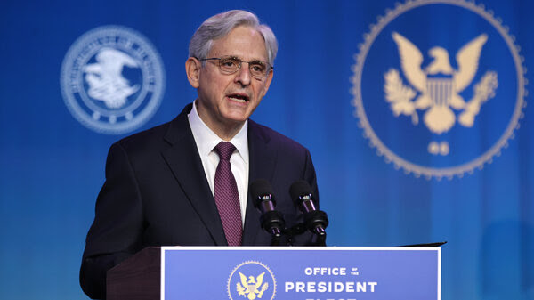 Attorney general nominee Merrick Garland, pictured on Jan. 7, is testifying before the Senate Judiciary Committee on Monday for his confirmation hearing.