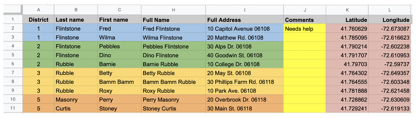 Database driven canvassing app uses Google Sheet and Glide Apps