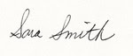 sara smith  signature