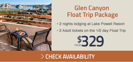 Glen Canyon Float Trip Package starting from $329