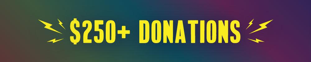 $250+ Donations