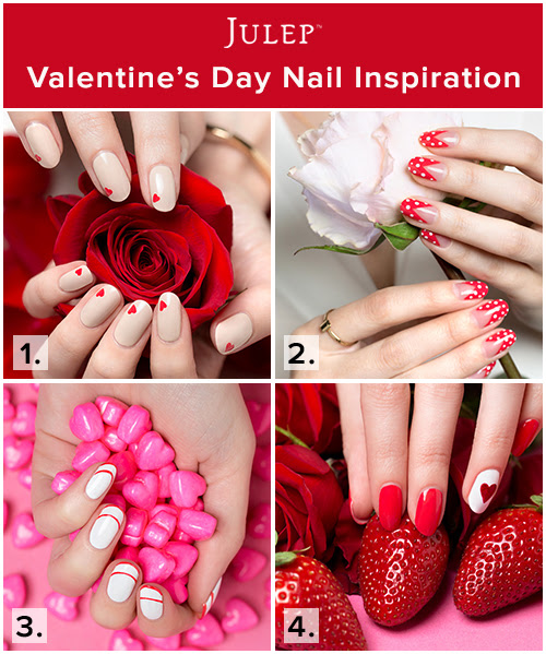 Valentines Day Nail Art From Julep Albion Gould