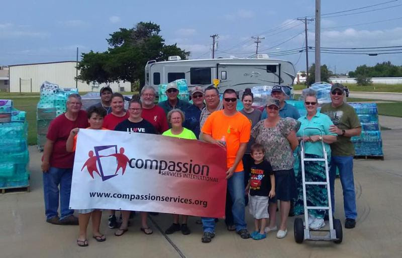Relief Supplies Delivered to Columbia, Texas