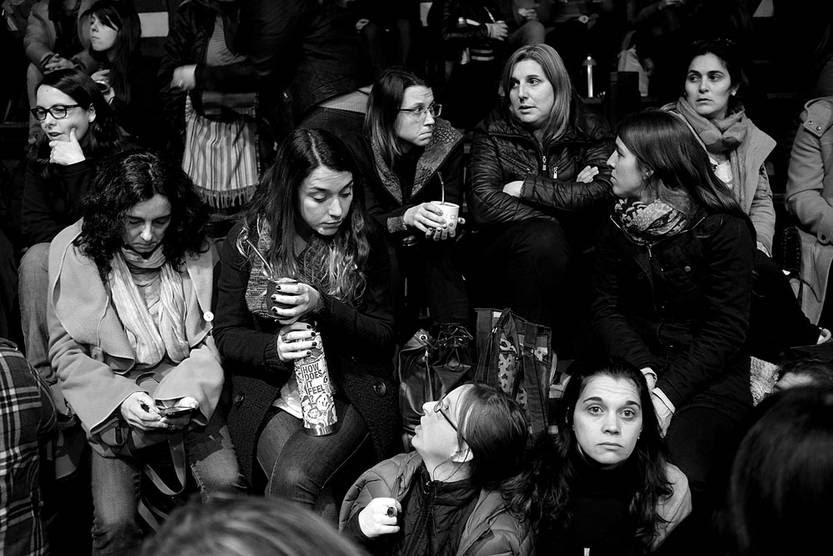 Asamblea de maestros, ayer, en el club Cordón. Foto: Pablo Vignali