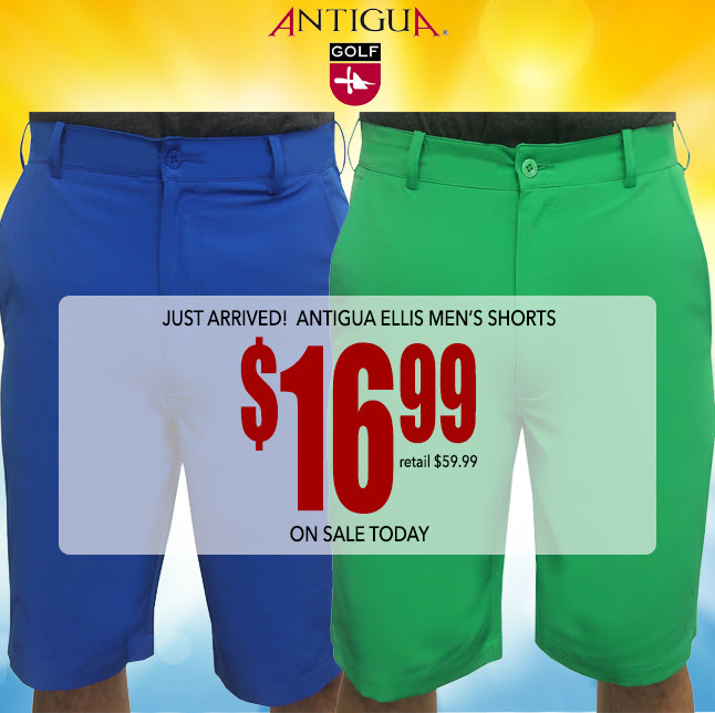 Just Arrived! Antigua Ellis Shorts $19.99 •Â This deal is NOW