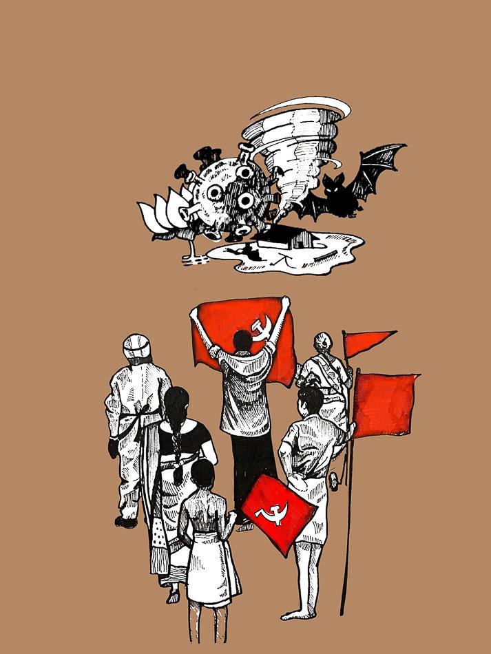 Gopika Babu (Kerala), Armed with Red, 2021.