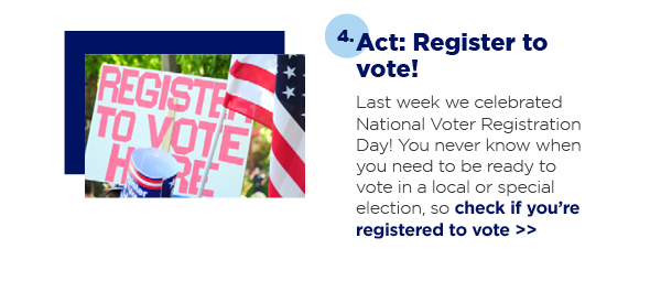 Act: Register to vote!