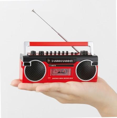 ラジオが聴けて、 カセットテープに録音もできる?!【昭和ミニラジカセ】