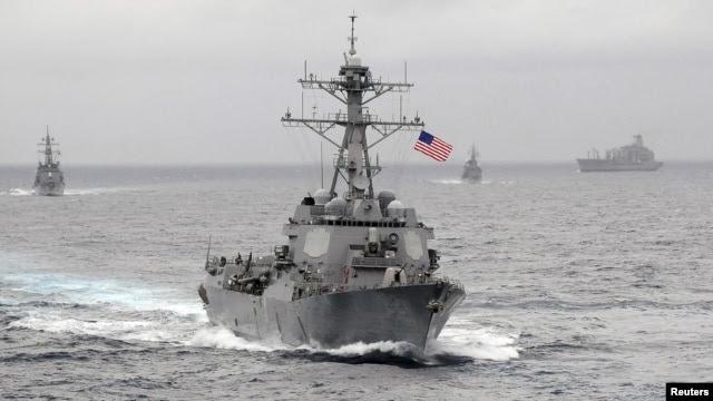 Tàu khu trục trang bị tên lửa dẫn đường USS Lassen trong khu vực Thái Bình Dương (ảnh do Hải quân Mỹ cung cấp).