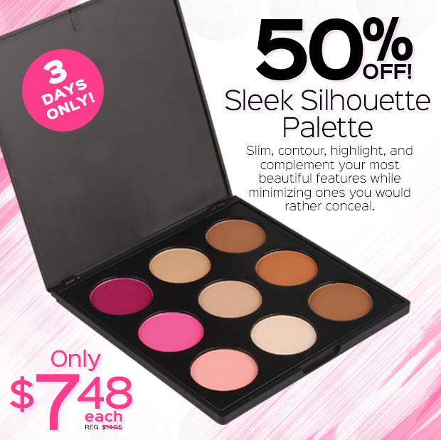 50% OFF Sleek Silhouette Palette Sale! Only $7.48 each, Reg. $14.95. 3 DAYS ONLY!