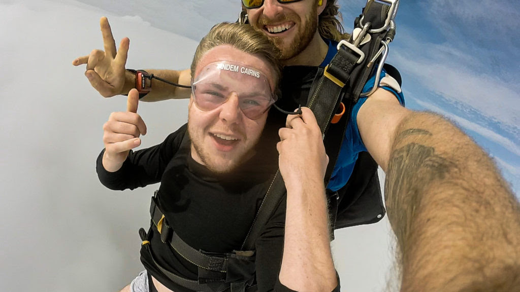 Cairns Skydive - travelling after university
