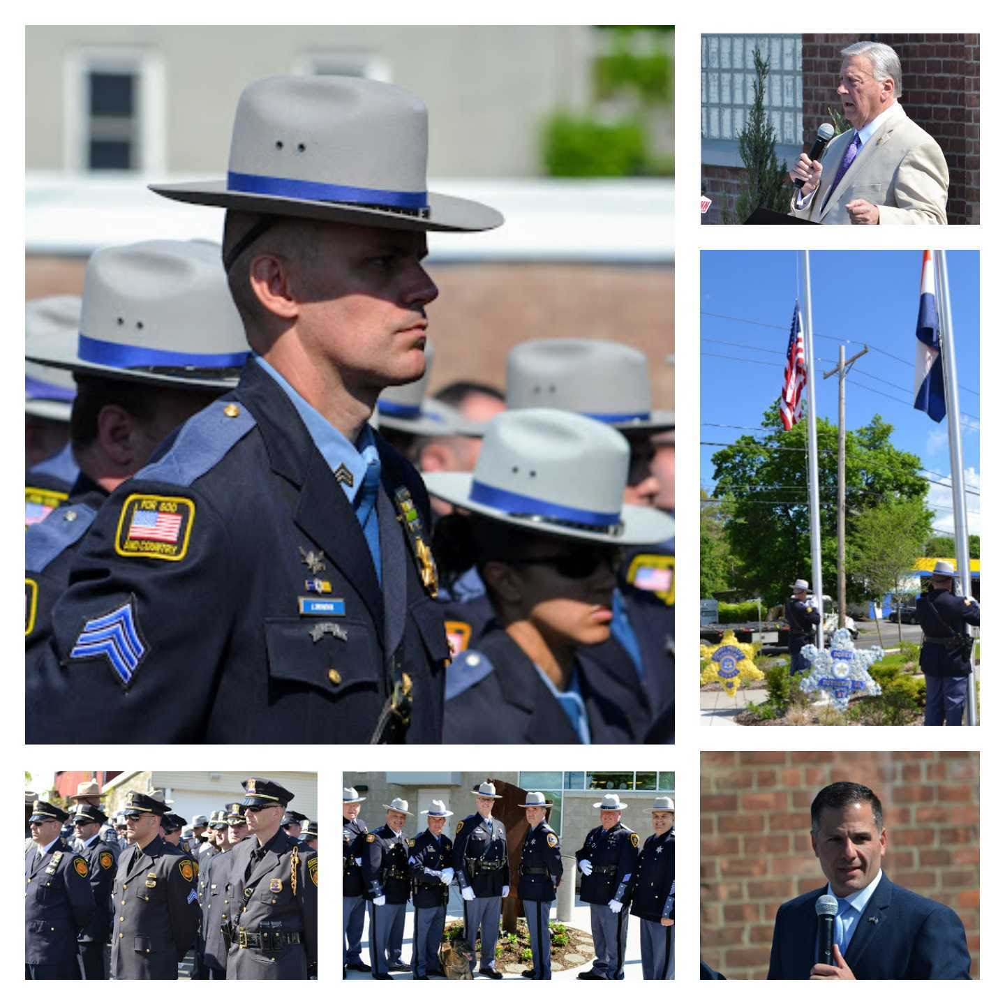 Dutchess County Sheriff's office Memorial Ceremony Collage